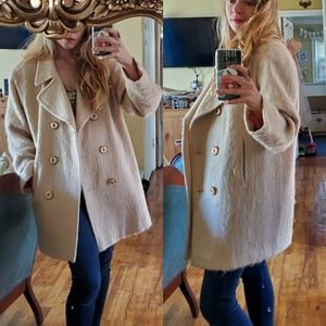 Vintage Mohair wool coat size medium